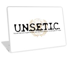 UNSETIC - United Nations Supernatural and Extraterrestrial Investigative Corps Logo Gear Laptop Skin