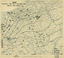 September 7 1944 World War II Twelfth Army Group Situation Map by allhistory