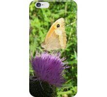 butterfly on a globe thistle iPhone Case/Skin