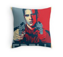 crichton propaganda Throw Pillow