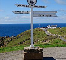 Lands End Sign Post. by Beth Mackelden