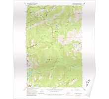 USGS Topo Map Washington State WA Stevens Pass 244048 1965 24000 Poster