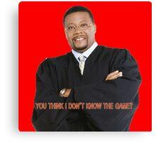 Judge My Game Canvas Print