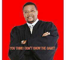 Judge My Game Photographic Print