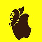 Apple Monkey iPhone Case by jereeebear