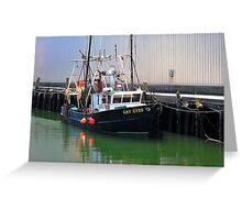 Cat Eyes Fishing vessel  Greeting Card