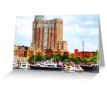 Boats at Inner Harbor Baltimore MD Greeting Card