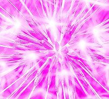 Dandelion clock - purple by Ian Hosker