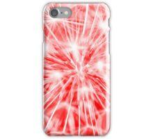 Dandelion clock - red iPhone Case/Skin