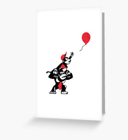 Balloon Apes Greeting Card