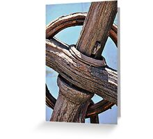 Old Wooden Anchor Greeting Card