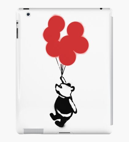 Flying Balloon Bear - Red Balloons Version iPad Case/Skin