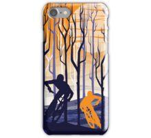 retro mountain bike poster illustration iPhone Case/Skin
