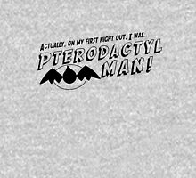 On My First Night, I was... Pterodactyl Man! (Black Normal) Unisex T-Shirt