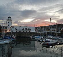 Dusk across the harbour by StephenRB