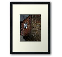 Durham Townhouses Abstract Framed Print