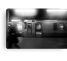 The train just arrived at Sapporo Station Canvas Print