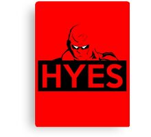 HYES Canvas Print