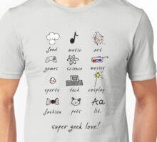 geek love! grey Unisex T-Shirt