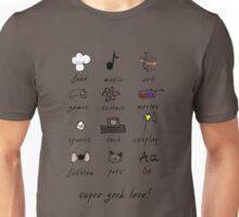 geek love! blue Unisex T-Shirt