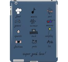 geek love! blue iPad Case/Skin