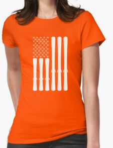 USA Ski Flag Womens Fitted T-Shirt