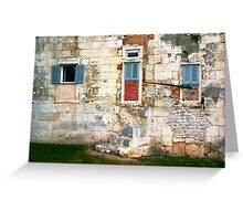 The Essence of Croatia - Windoors of Diocletian's Palace Greeting Card