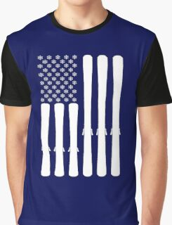 USA Ski Flag Graphic T-Shirt