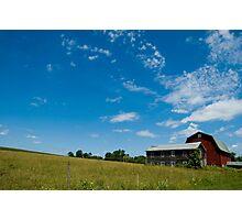Red Barn vs Blue Sky Photographic Print