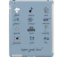 geek love! iPad Case/Skin