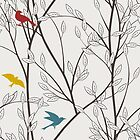 seamless pattern with birds no. 1 by franzi