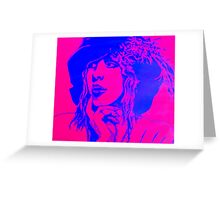 Violet and blue lady Greeting Card