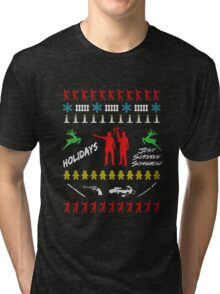 Walking Dead - Ugly Christmas sweater knitted Tri-blend T-Shirt