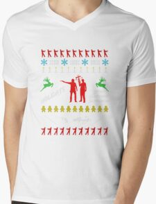 Walking Dead - Ugly Christmas sweater knitted Mens V-Neck T-Shirt