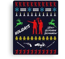 Walking Dead - Ugly Christmas sweater knitted Canvas Print