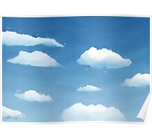 Clouds paint Poster