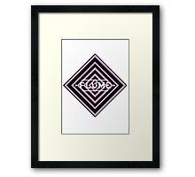 Flume psy - white Framed Print