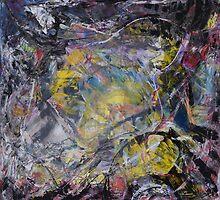 Light and Darkness -BIG Original mixed media painting by Dmitri Matkovsky