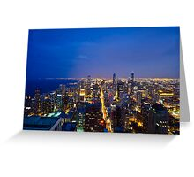Chicago Cityscapes South at Night Greeting Card