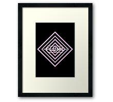 Flume psy - black Framed Print
