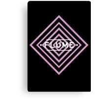Flume psy - black Canvas Print