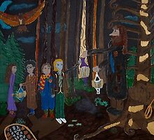Harry Potter in the Forbidden Forest by Purplesunset3