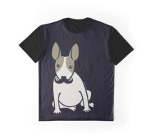 English Bull Terrier with Moustache - puppy dog Graphic T-Shirt