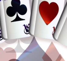 Four Aces and Suits Sticker