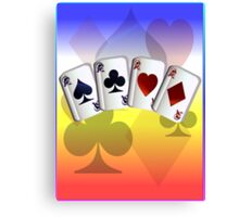 Four Aces and Suits Canvas Print