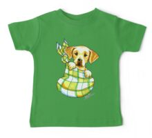 Yellow Lab Puppy Special Delivery Baby Tee