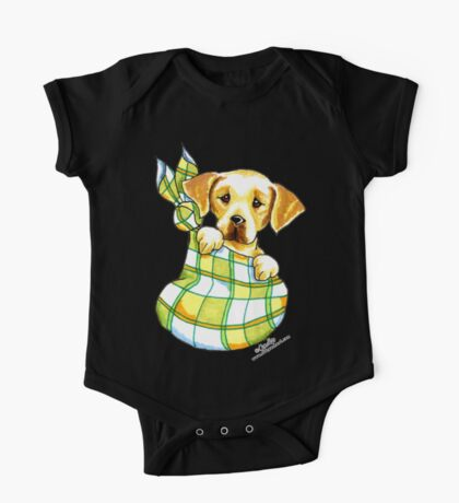 Yellow Lab Puppy Special Delivery One Piece - Short Sleeve
