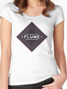 Flume psychedelic - white Women's Fitted Scoop T-Shirt