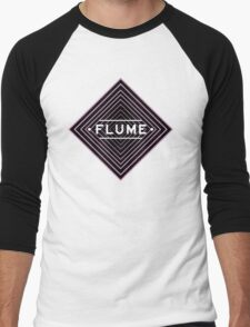 Flume psychedelic - white Men's Baseball ¾ T-Shirt