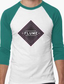Flume psychedelic - white Men's Baseball ¾ T-Shirt